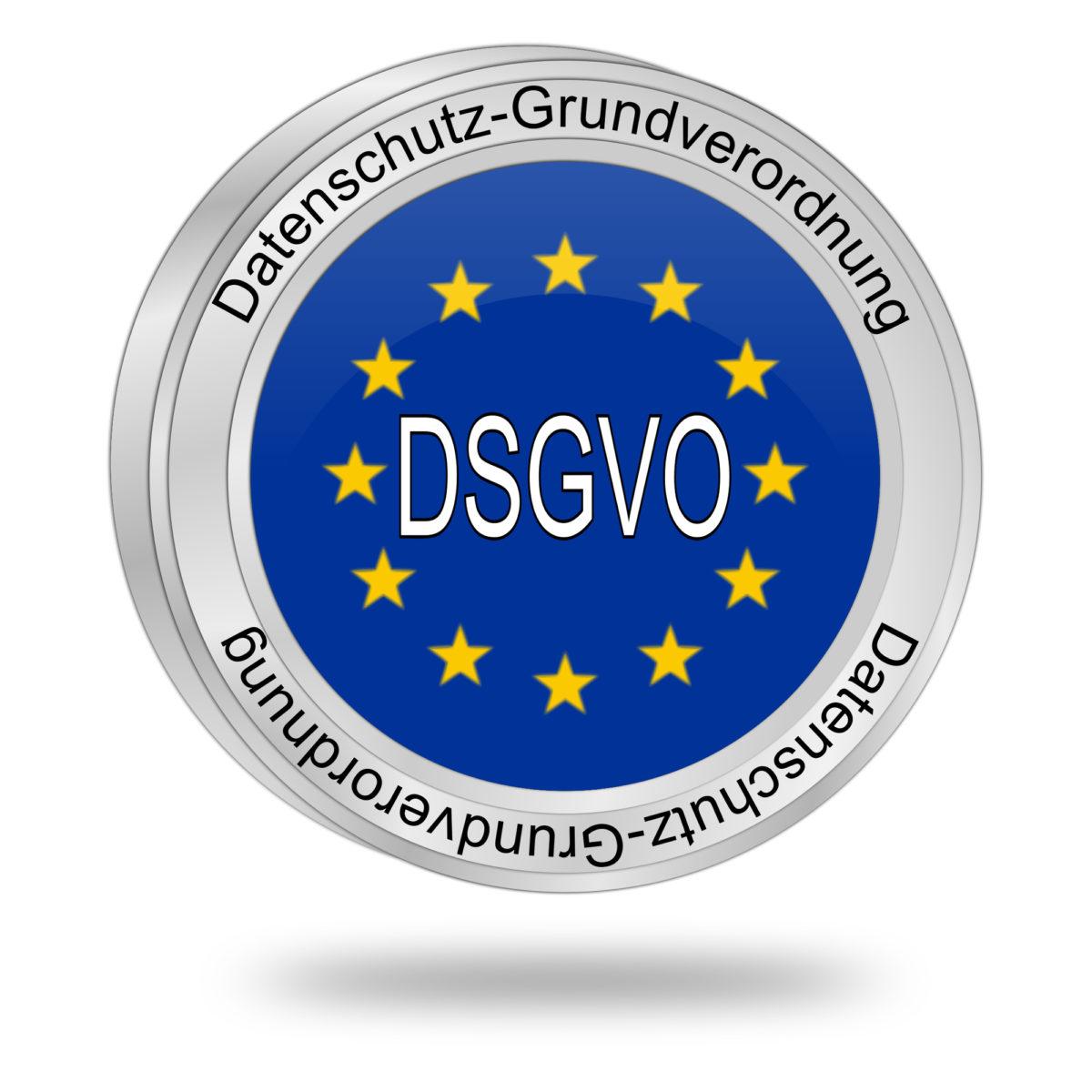 DSGVO Emblem Datenschutzgesetz 2018