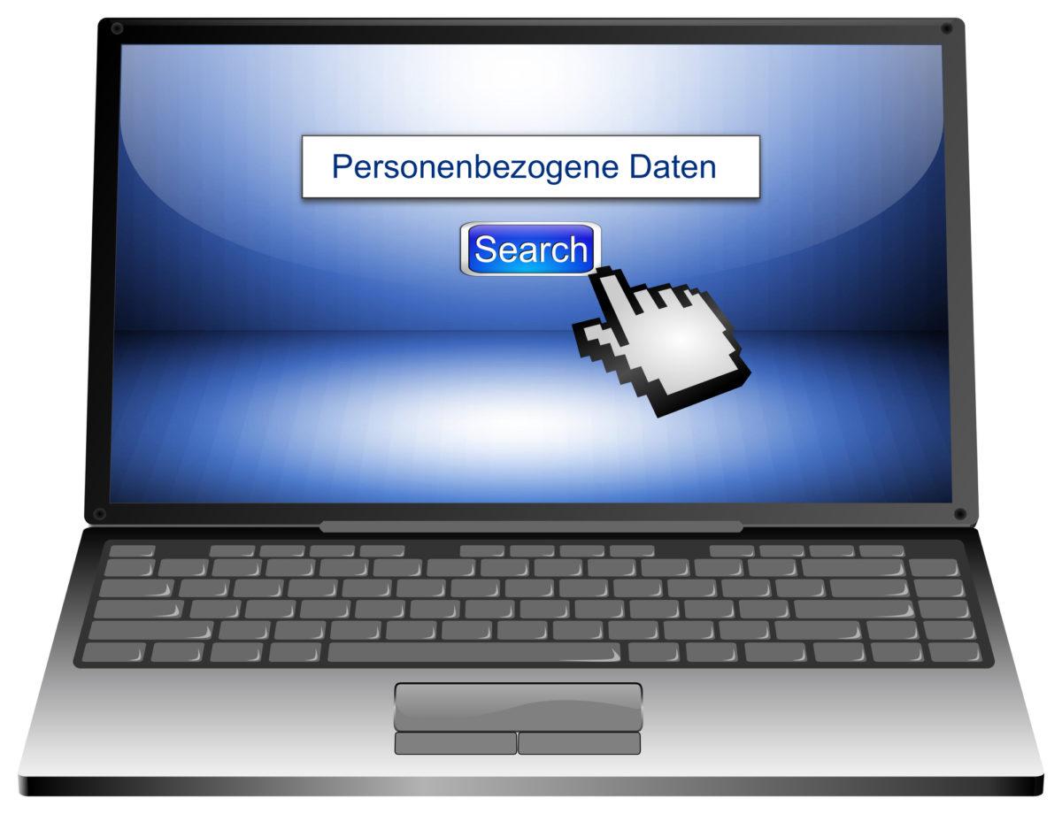 Recherche Personenbezogene Daten