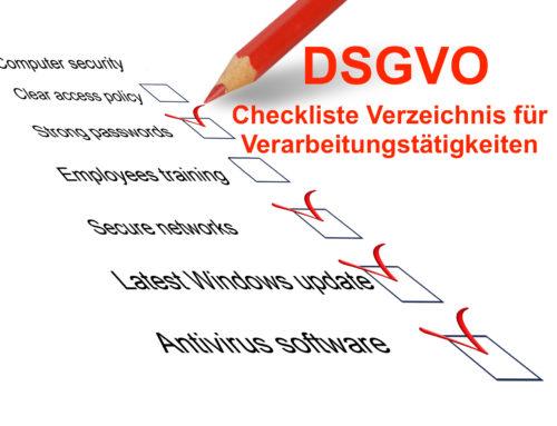 DSGVO – Warum ein Verzeichnis für Verarbeitungstätigkeiten so wichtig ist