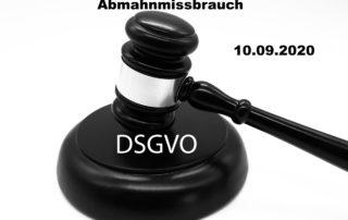 DSGVO Abmahnmissbrauch