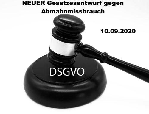 2. DSGVO – Neuer Gesetzesentwurf gegen Abmahnmissbrauch