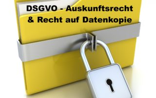 DSGVO Auskunftsrecht auf Datenkopie