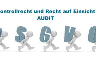 DSGVO Kontrollrecht Audit Einsicht